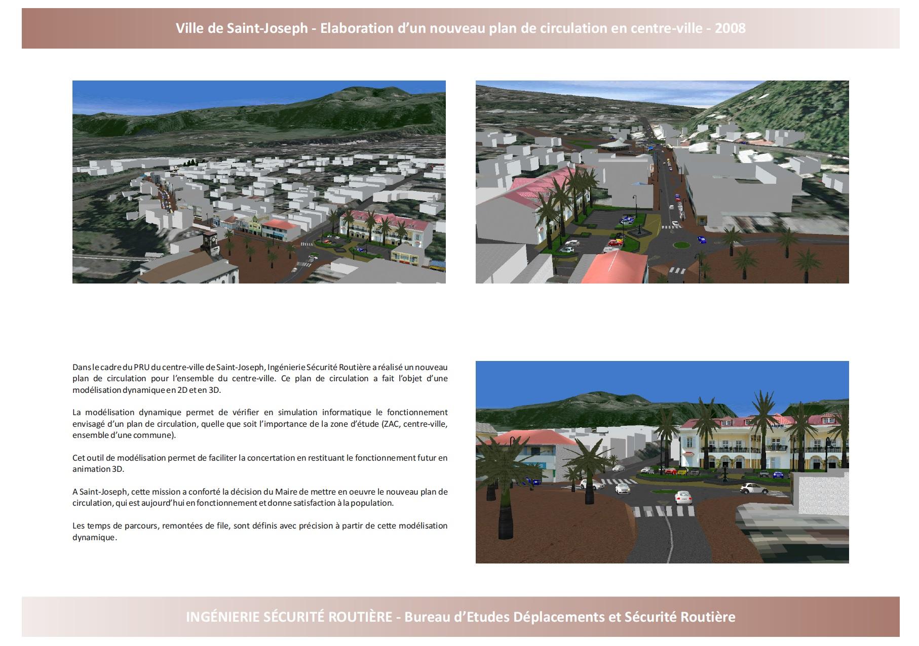 Ville de Saint-Joseph : Plan de circulation