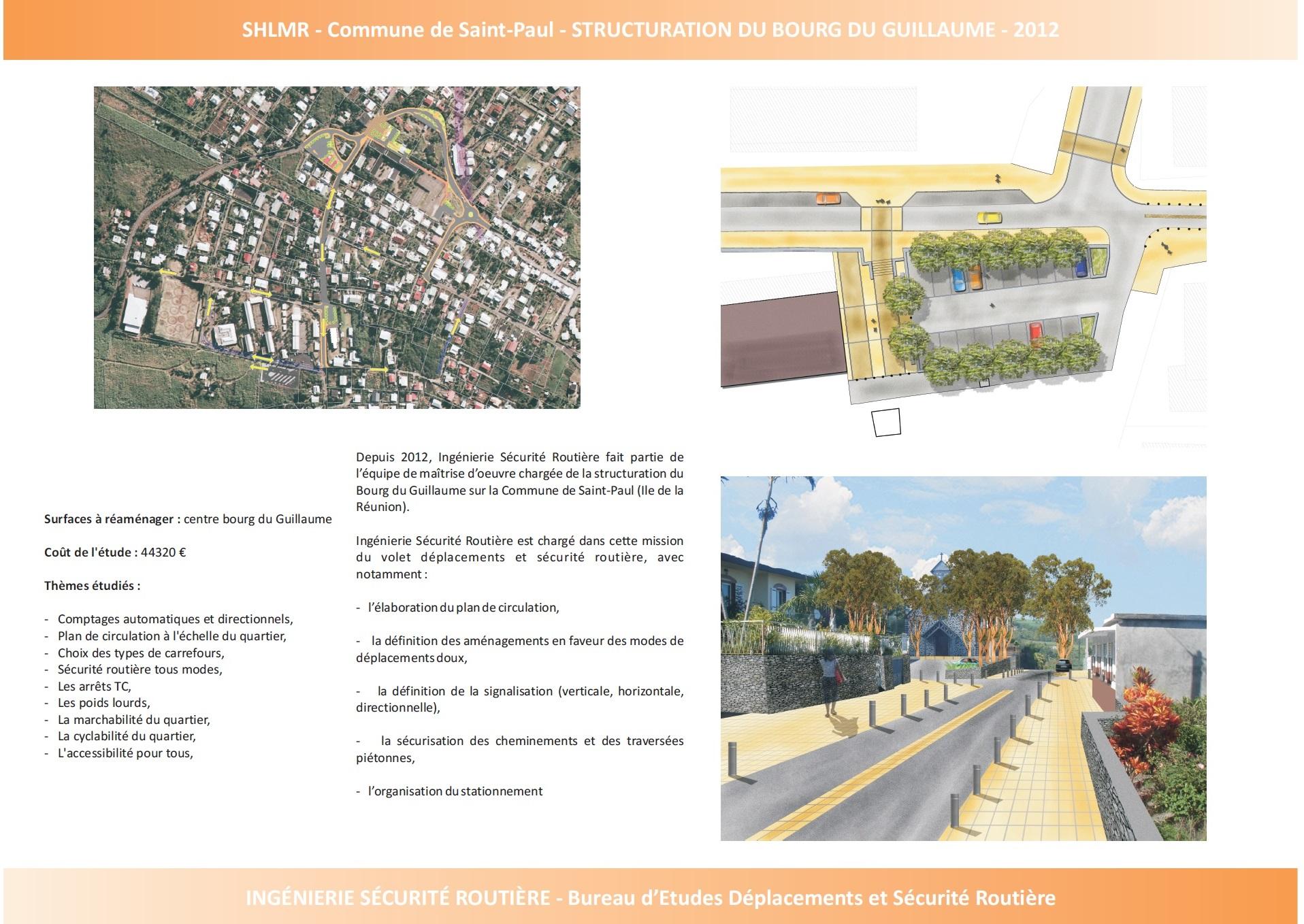 Ville de Saint-Paul : Structuration du Bourg de Guillaume
