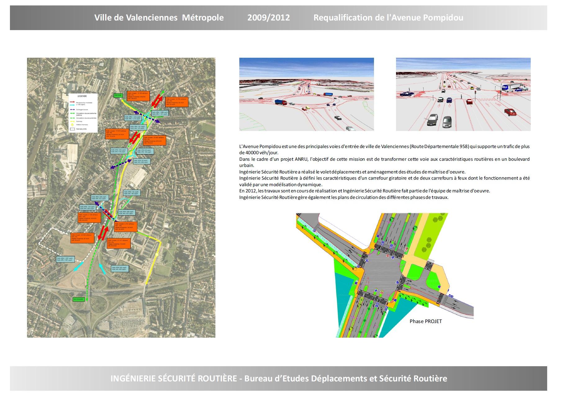 Ville de Valenciennes : Requalification de l'avenue Pompidou