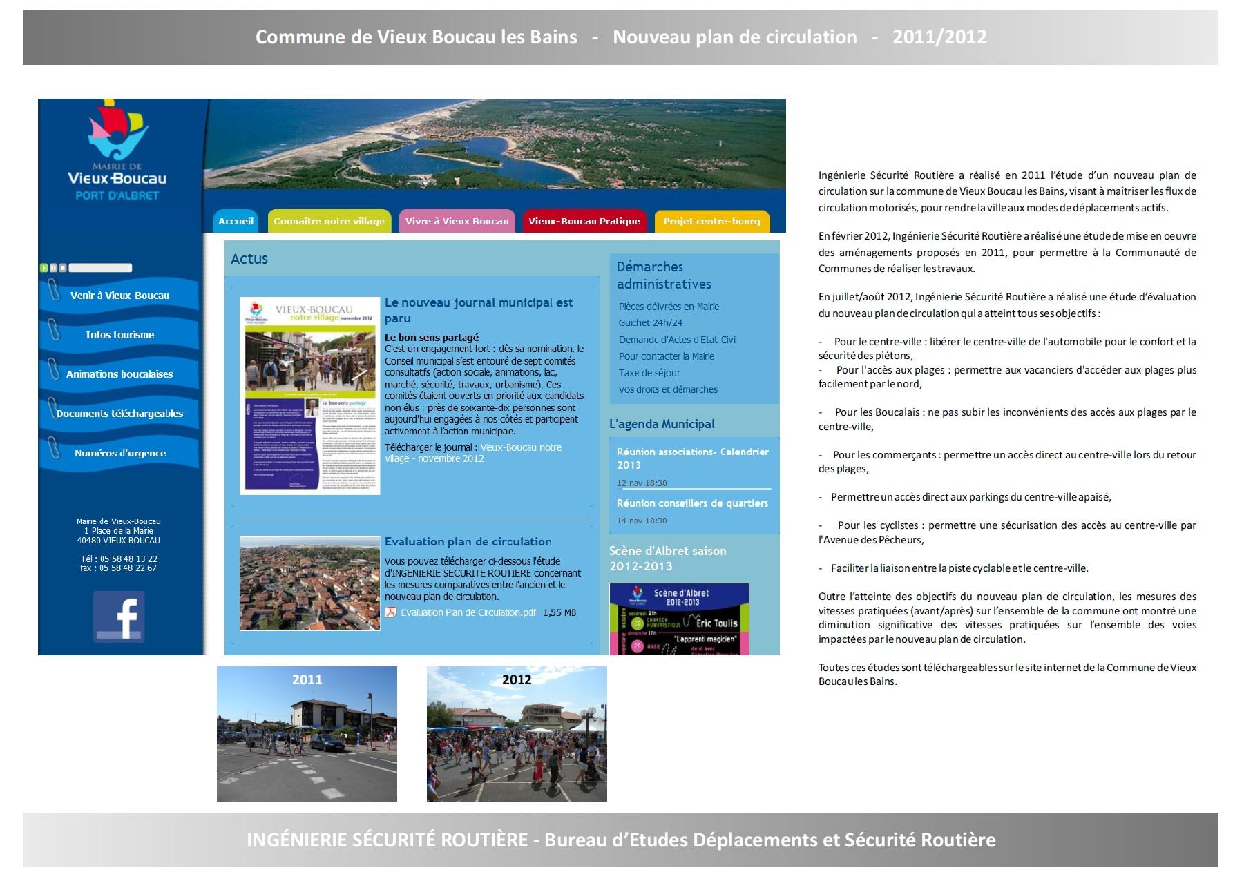 Ville de Vieux-Boucau-les-Bains : Plan de circulation