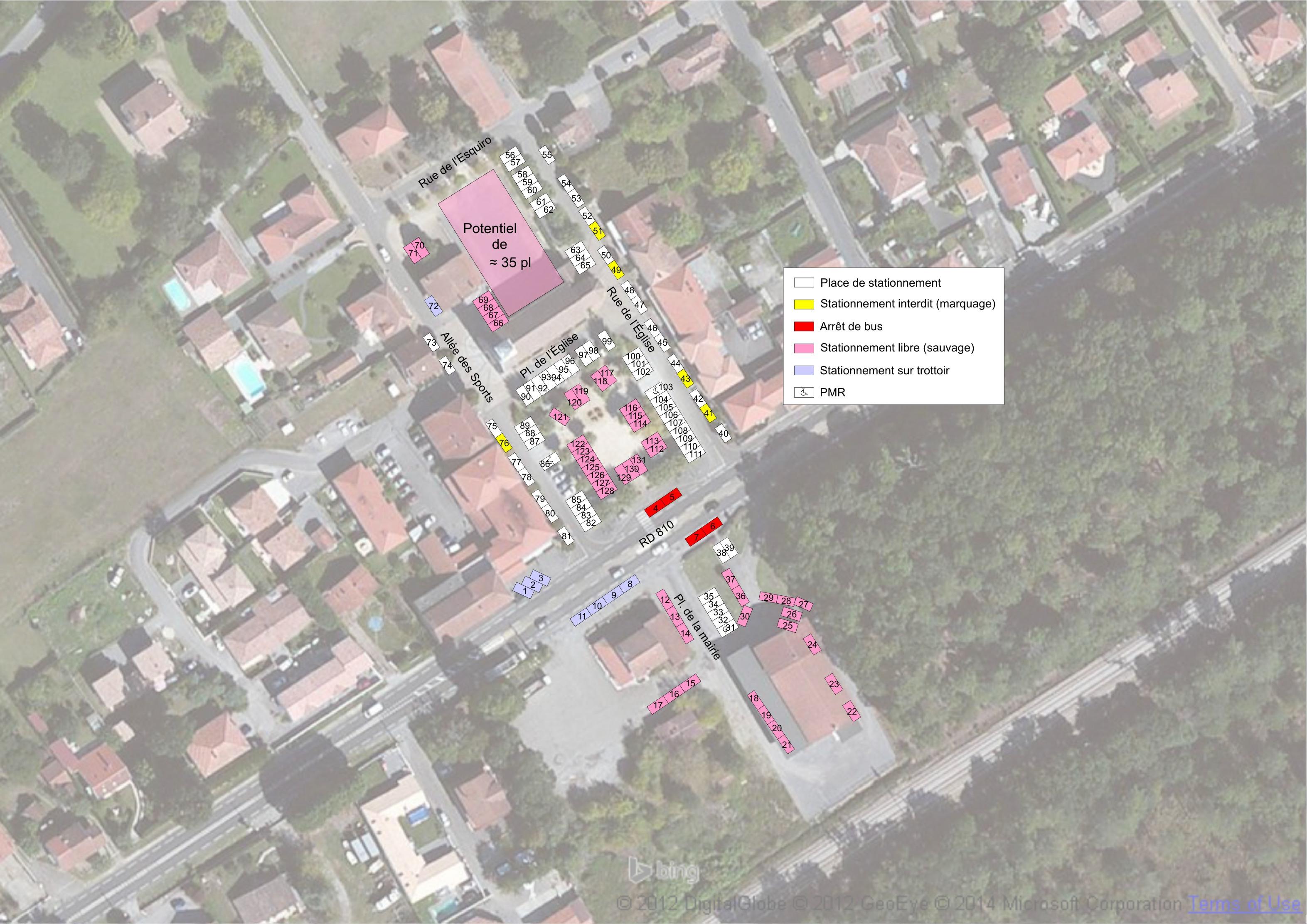 Cartographie de l'offre de stationnement