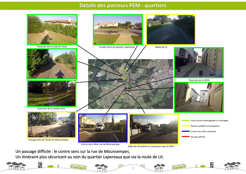 Proposer des itinéraires et des aménagements adaptés
